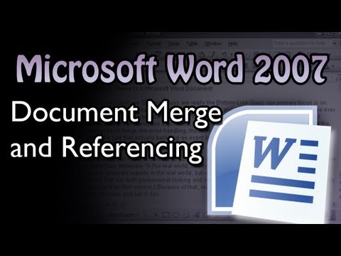 Word - Document Merge and Referencing