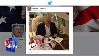 Donald Trump Eats KFC With a Fork and Knife