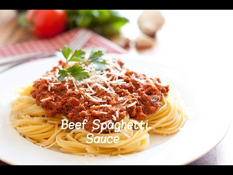 How to Make a Delicious! Beef Spaghetti Sauce |