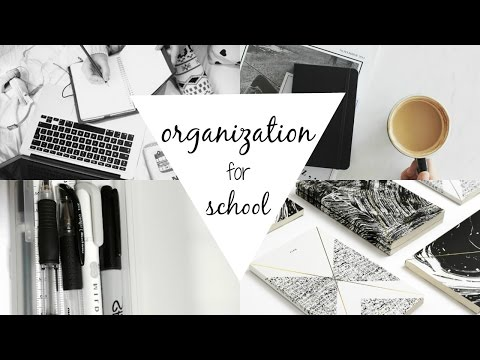 How To Stay Organized For School | Back To School Organization