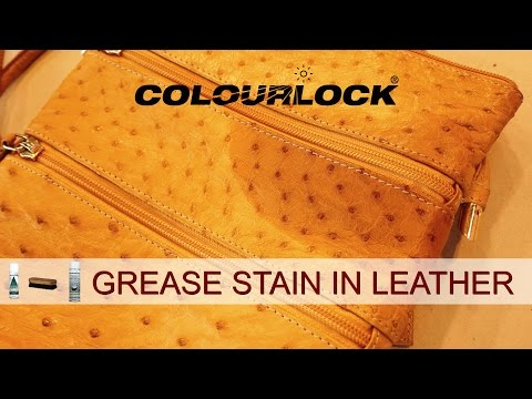 GREASE STAINS ON LEATHER
