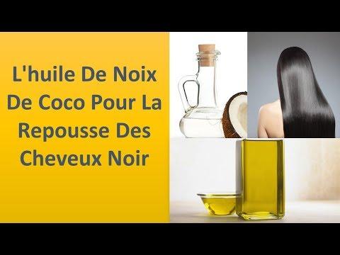 L'huile de noix de coco pour la croissance des cheveux noirs