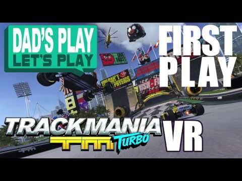 Playstation VR (PSVR) - Dad's Play Let's Play - TrackMania Turbo VR