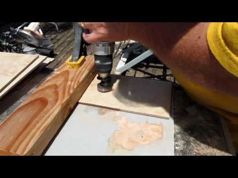 Drill a hole in ceramic tile.