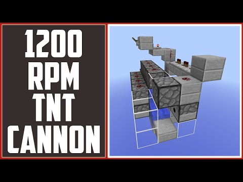600 RPM TNT Cannon - Fastest Firing Canning In Minecraft! [Minecraft Tutorial]