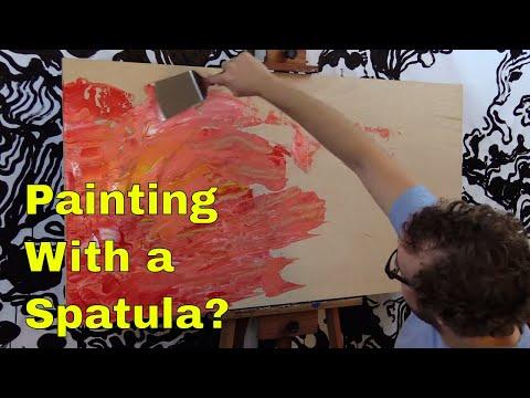 Big Pink Spatula Painting (Abstract Acrylic)