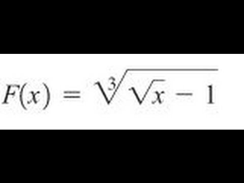 Express the function in the form f of g of h for  (sqrt(x) - 1) ^ (1/3)