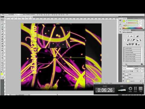 How To Create a Youtube Background in PhotoShop CS6
