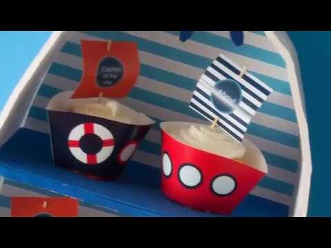 How to make a boat cupcake stand