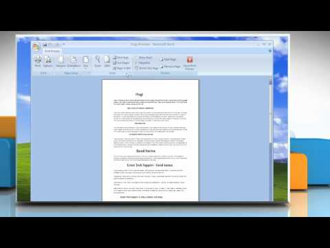 How to shrink a document by one page in MS Word 2007
