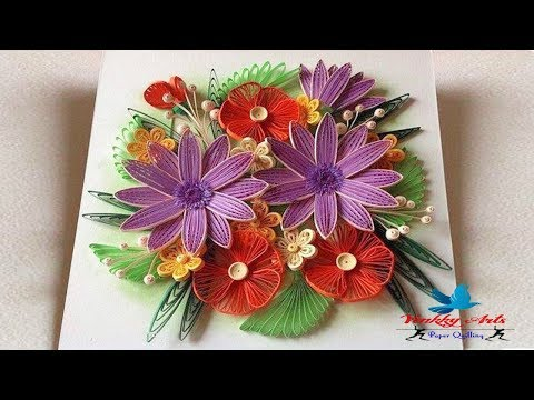 Paper Quilling | How To make Beautiful Flower Designs  | Paper Quilling Art