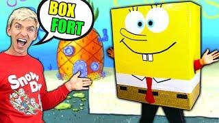 SPONGEBOB BOX FORT!!