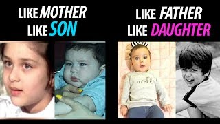 Misha and Taimur completely resembles their parents
