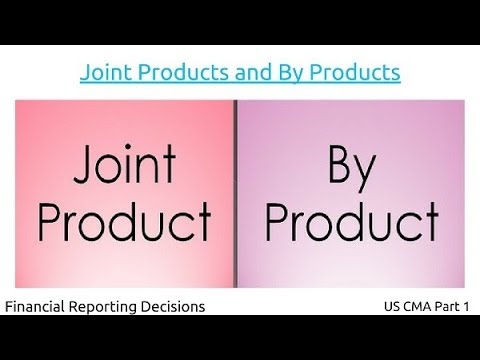 Joint Products and By Products | Financial Reporting Decisions| US CMA Part 1| US CMA course