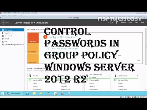 16. Control Passwords in Group Policy- MCSA Windows Server 2012 R2