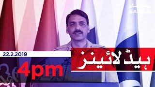 Samaa Headlines - 4PM - 22 February 2019