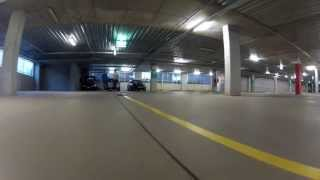 Quadcopter, Carpark, FPV and Drift Cars equals Awesome fun