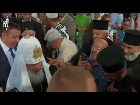 Patriarch of Moscow welcomed in Tirana's Orthodox Cathedral, Albania
