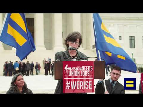 Mary Beth Maxwell Speaks in Support of Unions at Supreme Court