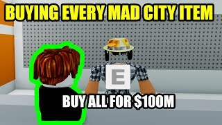 BUYING EVERY MAD CITY ITEM in UNDER 15 MINUTES Roblox