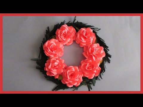 DIY Paper Flowers Wreath | How to Decor Room | Home Decoration