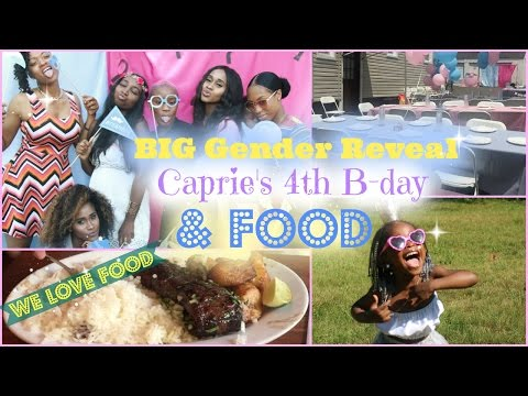 Vlog  Gender Reveal Party, Prie's 4th Birthday, & lots of eating!!   Nae and Nea