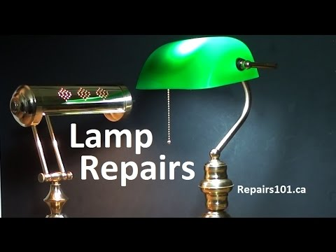 Lamp Repairs - How to Rewire, Switch Replacement & Underwriter's Knot