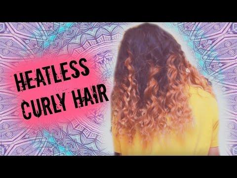 Heatless Overnight Curly Hair | Rope braid