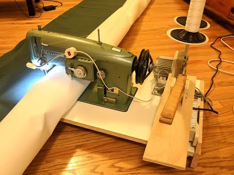 Making a portable industrial sewing machine - DIY sails made easier!