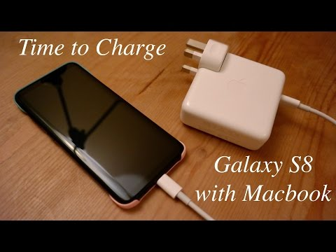 Time to Charge: Samsung Galaxy S8 with Macbook Pro Charger