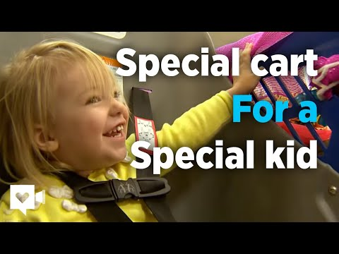 Grocery store buys special cart for special kid