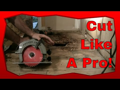 How to Cut Subflooring With A Circular Saw, Skill Saw