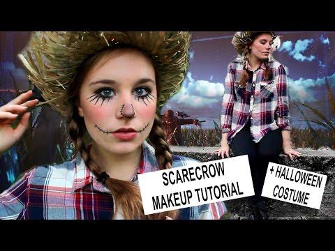 SCARECROW HALLOWEEN MAKEUP TUTORIAL & COSTUME