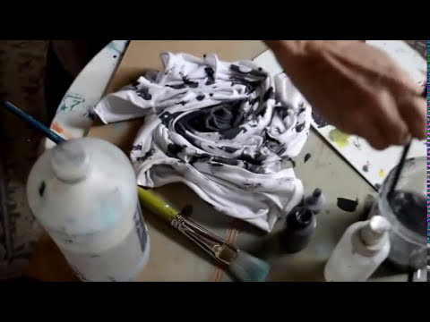Hide Permanent Stains Tie Dye with Acrylic Paint - DIY Style