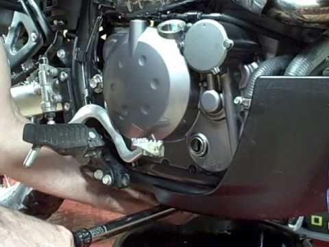 Motorcycle Repair: How to change the oil and oil filter on a 2009 Kawasaki KLR 650
