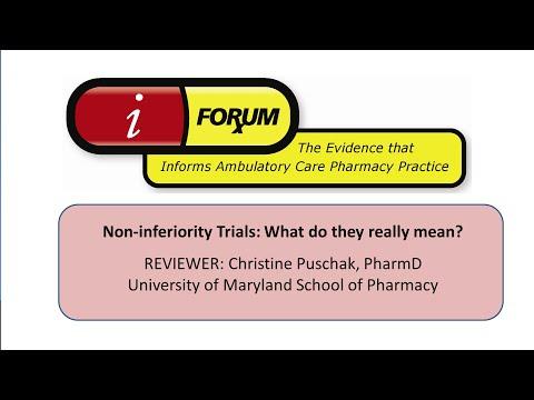 EBM Tutorial - Non-Inferiority Trials