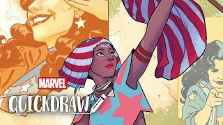 America has arrived on Marvel Quickdraw!