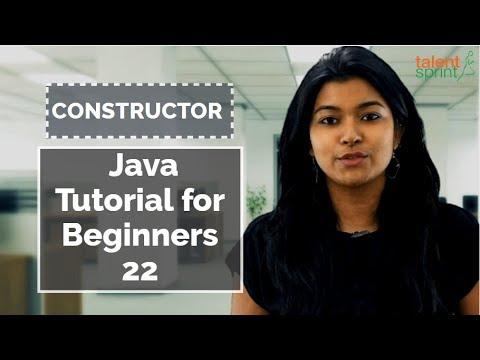 Constructor  in Java | Java Tutorial for Beginners 22 | TalentSprint