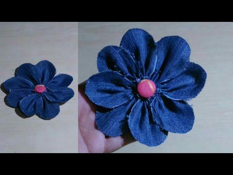 How to make denim flowers easy tutorial| Denim flower DIY