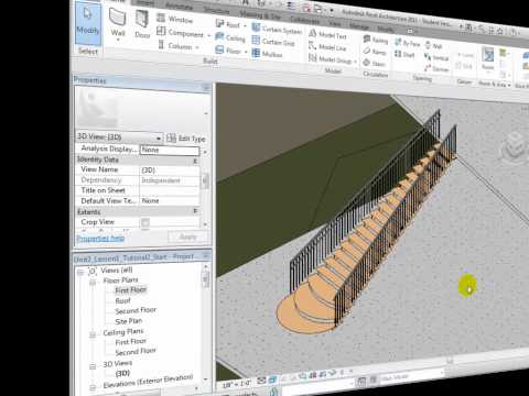 Revit Architecture - Editing Stairs