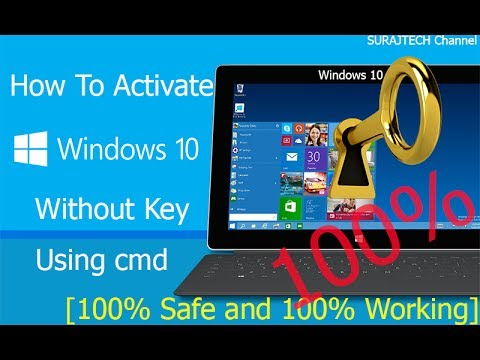 how to activate windows 10 without key using cmd