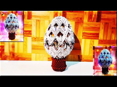 How to make 3d origami Easter Egg 7