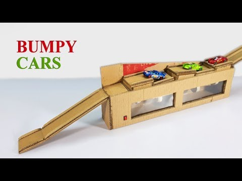 How to make CAR TRACK GAME PLAY SET from Cardboard