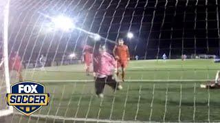 Goalkeeper Peter Jeffries makes an incredible save   @TheBuzzer   FOX SOCCER