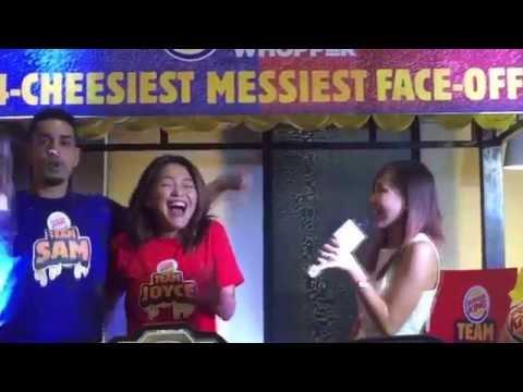 #SamPringCheesyFaceoff - Burger King Philippines