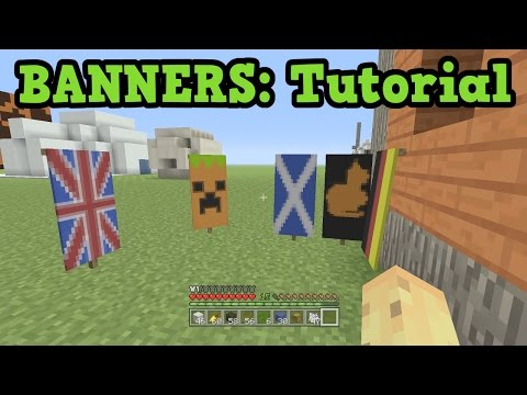 Minecraft Xbox 360 / PS3 - Banner Tutorial (TU43 Banner Designs)