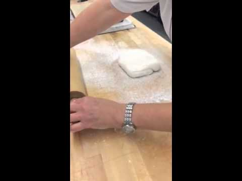 Covering slab cake with fondant