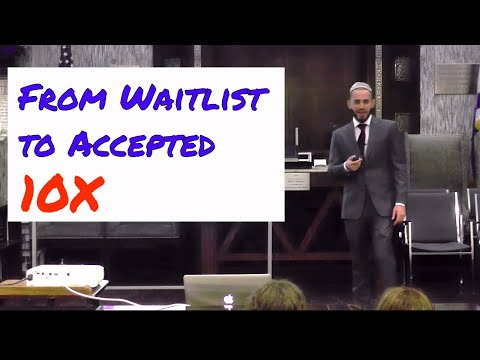 How to get into colleges and get off waitlists (Live)