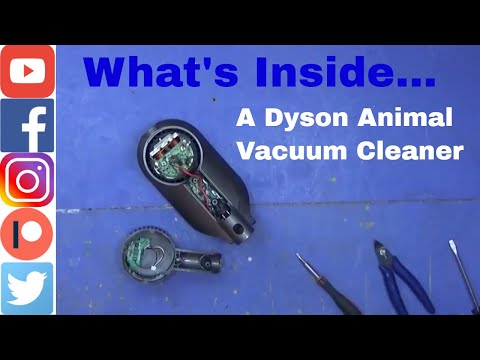 Whats inside a Dyson Animal Vacuum Cleaner. A Quick Tear Down.