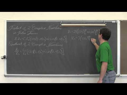 Product & Quotient of Polar Complex Numbers